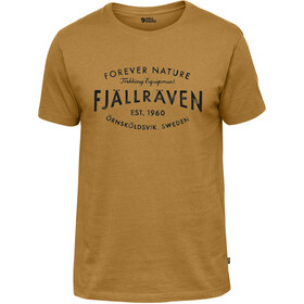 Fjällräven Est. 1960 Camiseta Hombre, amarillo